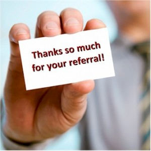 Referrals in a chiropractic practice